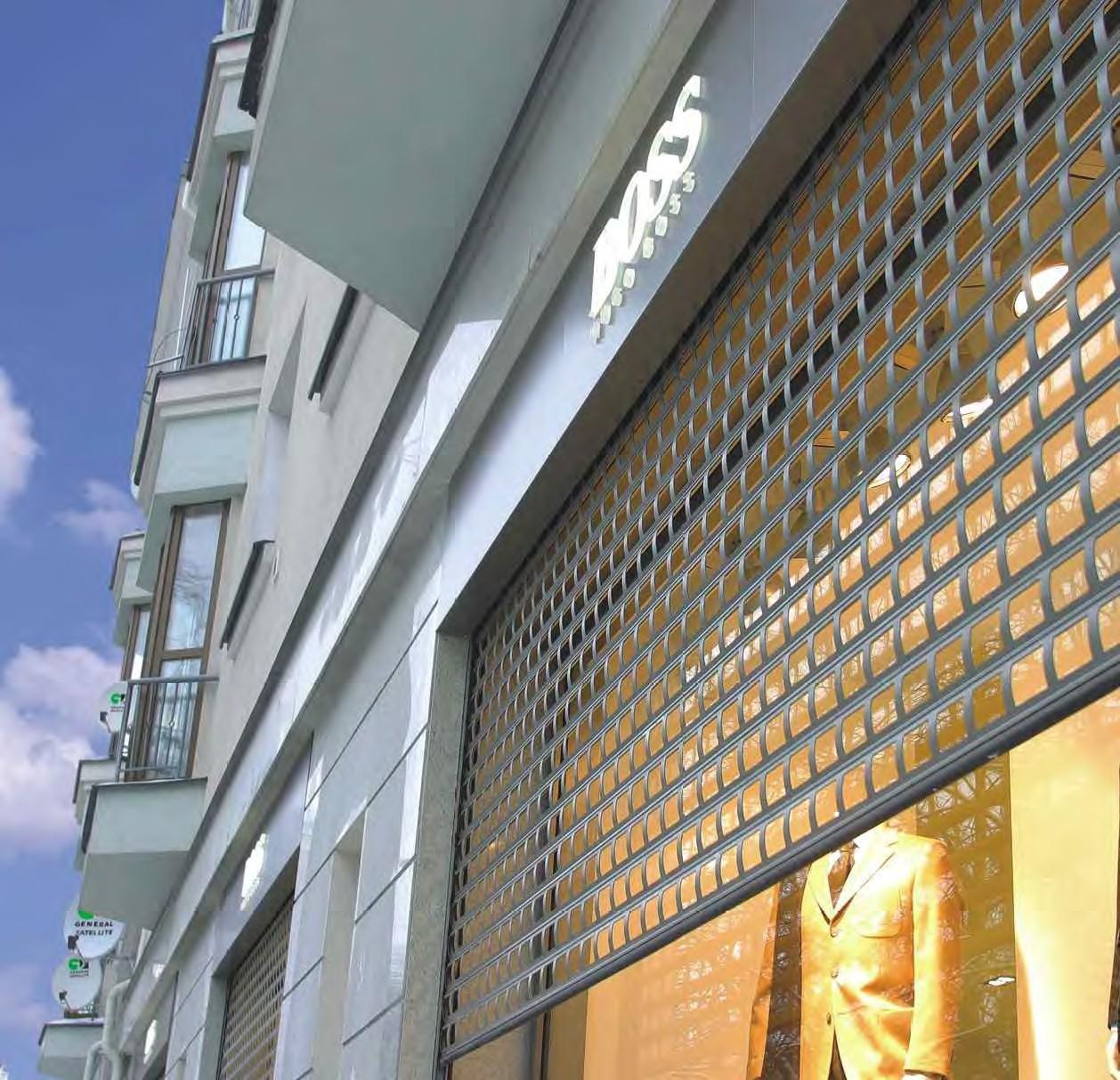 Роллетные решетки купить для витрин магазинов алютех в сургу.